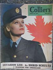 Collier's Magazine  March 25,1944  Invasion Lies  VINTAGE ADS