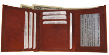 Men's Classic Style Credit card ID Trifold  Cowhide Leather Wallet
