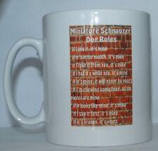 Reglas De Schnauzer Miniatura Novedad Perro Impreso taza de té/Café Bebida Regalo/presente