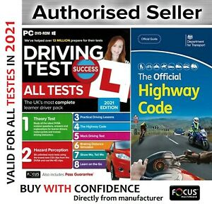 2021 Driving Theory Test & Hazard CD Rom DVD Highway Code Book New-atpc+ hw