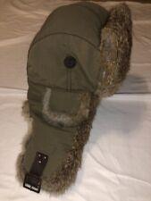Mad Bomber Supplex Rabbit Fur Trapper Hat Insulated - Medium - Olive Green