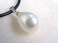 Blanc coquillage perle ,forme de goutte d'eau,Pendentif