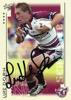 ✺Signed✺ 2003 MANLY SEA EAGLES NRL Card LUKE DORN