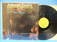 Johnny Cash Country Round-up 1965 Mono LP Record Hilltop JM 6010 Wilburn Bros