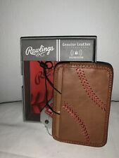 Rawlings Baseball Stitch Money Clip Wallet Genuine Leather BNWT!
