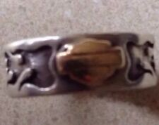 Mens/Ladies  Harley Davidson Ring 10k Gold Sterling Silver Band Size 7