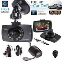 "2.7"" HD LCD 1080P Dual Lens Car Dash Camera DVR Cam Recorder Night Vision New"