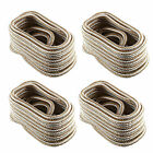 4-pack 12 Inch 25 Ft Double Braid Nylon Boat Dock Line Mooring Rope Anchor Line