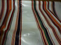neuf 3m x1m,50,tissu plastifié  rayures ,nappe, rideau ,