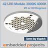 LED module containing 42 high brightness leds. 3250 lumens 3000K, 4000K