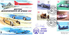 CC59 RAF aircraft + Bluebird Car & Boat 1998 Speed FDC signed DON WALES