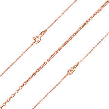 """18k Rose gold plated sterling silver Finished Connector trace Chain 18"""" (d41/7)"""