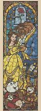 Beauty and the Beast-Stained Glass Counted Cross Stitch COMPLETE KIT #10-69 KIT