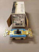 NOS Leviton 5224 Two Brown Single Pole Switches
