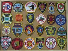 OKLAHOMA FIRE/RESCUE DEPARTMENT PATCHES! SET ONE! LOT OF 24! See Item Desc!