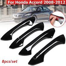 8Pcs Gloss Black Door Handle Covers For Honda Accord 2008 2009 2010 2011 2012
