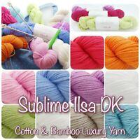 Sirdar Sublime ISLA DK Luxury Cotton Bamboo Knitting/ Crochet Wool Yarn 100g