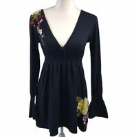 Johnny Was JWLA Tunic Blouse Embroidered Flowers Women's Size M