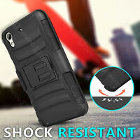 Belt Clip Holster Armor ShockProof Defender Case Cover For HTC Desire 626 626S