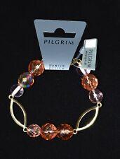 Pilgrim Gold Links Bracelet with Pink Beads