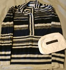SONIA RYKIEL Sweater and mini makeup bag white quilted