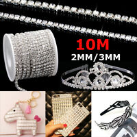 1/2 Rolls 33ft Chain Trim Rhinestone Crystal Glass Gem Sparkle Diamante