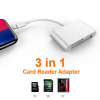 Camera Connection Kit USB TF SD Card Reader for iPhone X XS XR 8 7 6 iPad IOS 12