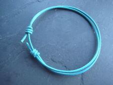 2mm real turquoise leather cord adjustable sliding knot ankle bracelet