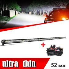 Roof 52inch 1080W Slim LED Light Bar Flood Spot Combo Driving Truck Boat SUV ATV