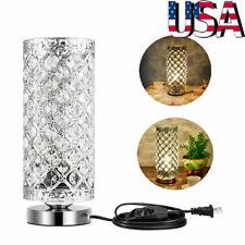 Modern Crystal Table Lamp Desk Bedside Night Light Bedroom Nightstand Home Decor