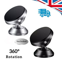Magnetic Car Phone Holder Universal Mount 360 Rotate Swivel Angle iPhone Dash UK