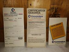 Certificato Di Garanzia Commodore Manuale Vintage RARO