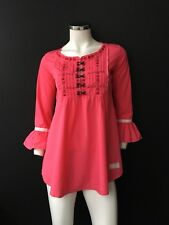 Odd Molly Shirt Women's Coral Pink Size 1, S