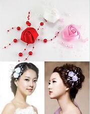 mariage mariée cheveux rose fleur perle broches de cheveux Party BARRETTE