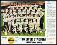 MLB 1970 Milwaukee Brewers Color Team Picture 8 X 10 Photo Picture