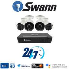 Swann 8 Channel  4x Camera HD 5MP Super HD NVR-8580 2TB HDD Thermal Sensing HDMI