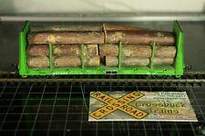 40' Bulkhead Flatcar Log Car UP 621650 w/logs (102011)
