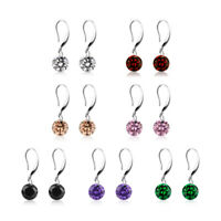 Fashion Cubic Zirconia Ball Gold Sliver Ear Hook Earrings Wedding Jewelry Gift