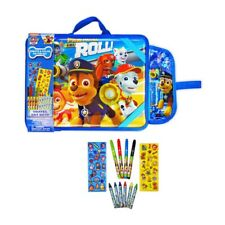 New Paw Patrol Is On A Roll Travel Art Desk 6 Crayons 4 Markers 2 Sticker Sheets