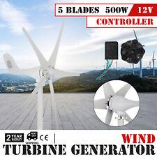 Turbina Eolico Generatore Verticale 500W 12V con 5 Blades Wind Power