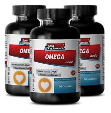 Omega 3 6 9 Supplement - Omega-3-6-9 8060 3000mg - Fat Burner For Men 3B