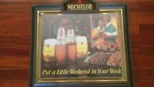 Vintage Michelob Beer Black Americana Lighted Beer Sign Bar Store Advertising