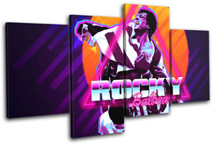 80s Retro Rocky Iconic Celebrities MULTI CANVAS WALL ART Picture Print