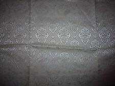 tissu french textile ameublement damas gris argent fleur style 18e 125x43  B5