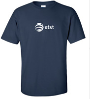 AT&T T-shirt 80s Vintage LOGO Funny COOL GEEK Phone TEE Shirt Navy Blue S-5XL