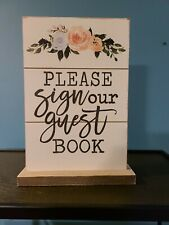 New for Wedding Please Sign Our Guest Book Table Top Sign