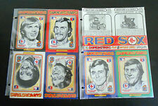 2 1976 Charles Linnett Boston Red Sox Superstars Perforated 6 Card Sets w/Yaz NR