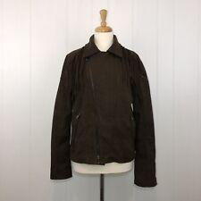 Zara Man Men's Faux Leather Suede Fringe Jacket Coat Brown Size Medium