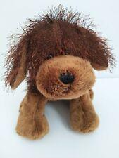 "9"" Brown Dog HM195 Fuzzy Ganz Webkinz Plush Stuffed Animal toy puppy No Code"