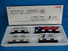 """Marklin DB AG 47681 Container Car Set """"Containertransport"""""""